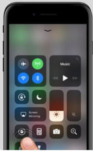 iPhone Screen Record Button