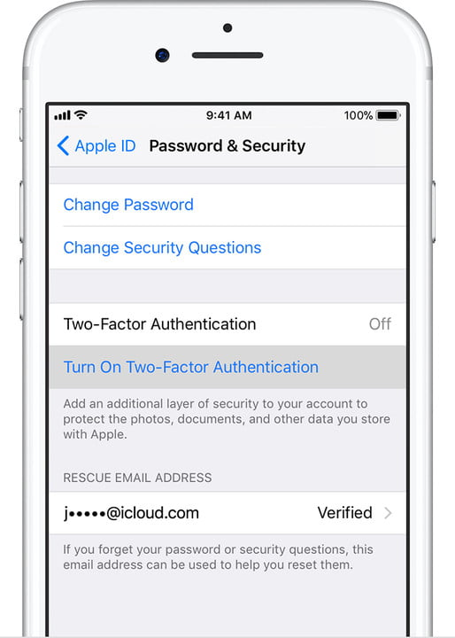iPhone Two-Factor Authentication