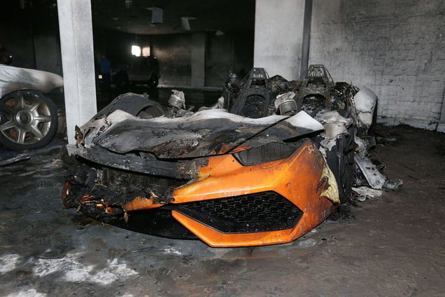 Lamborghini Huracan and a pair of Rolls-Royces torched in British arson attack