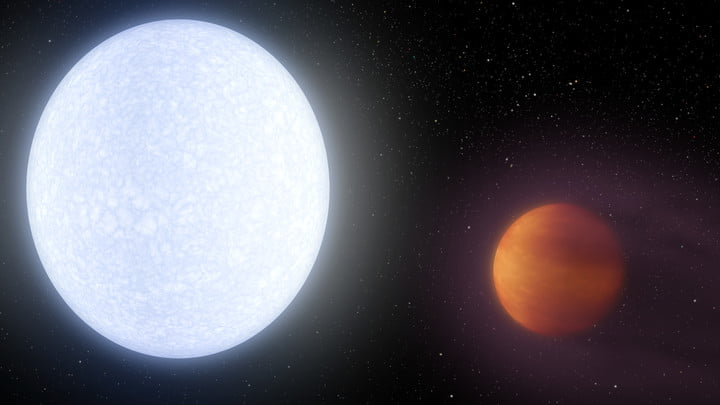 Astronomers just discovered a huge planet that's hotter than most stars