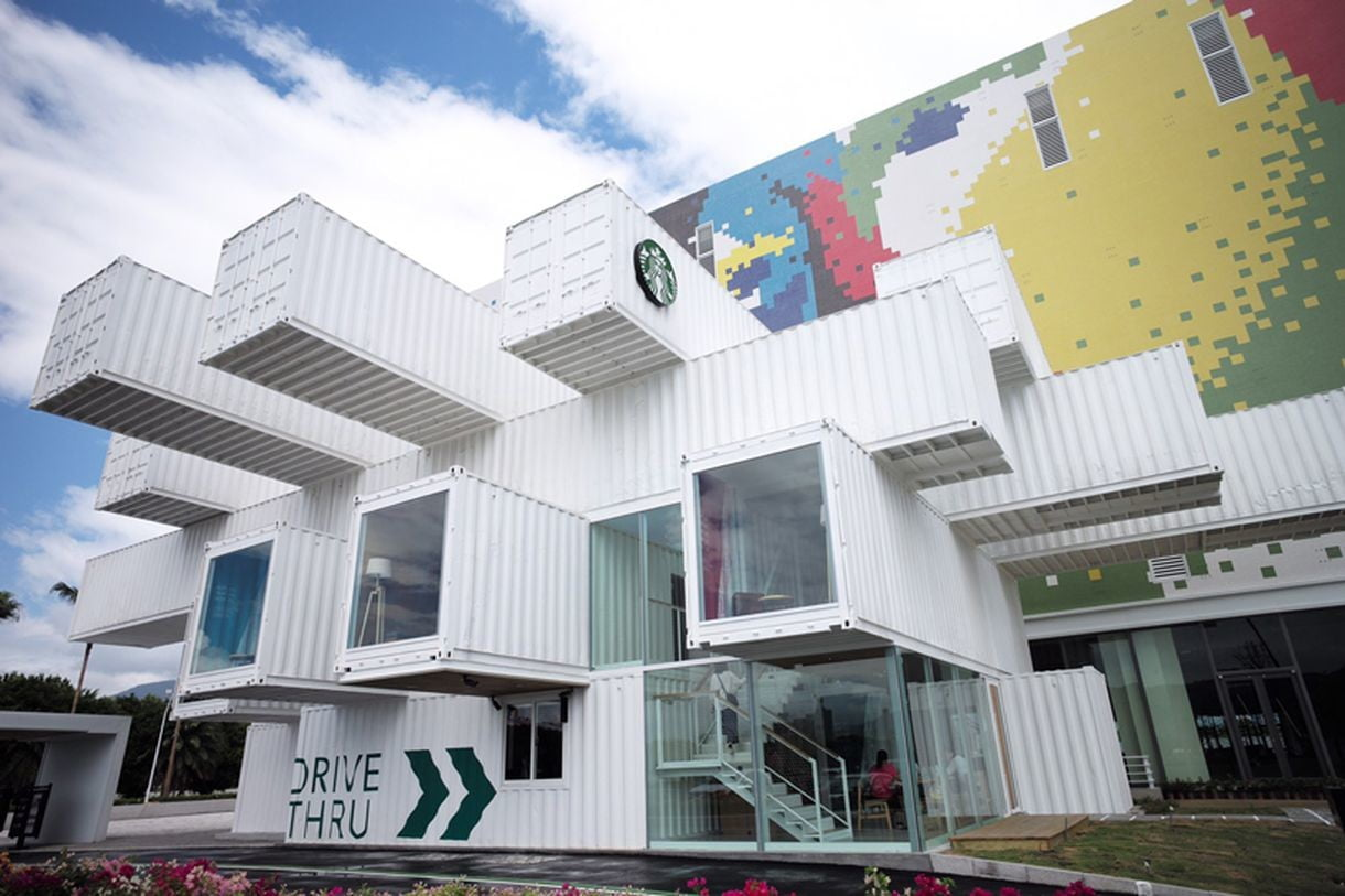A New Starbucks in Taiwan Emerges from Reclaimed Shipping Containers ...