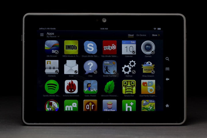 Kindle fire helpful tips and tricks updated for kindle fire hdx kindle fire hdx front app grid fandeluxe Gallery