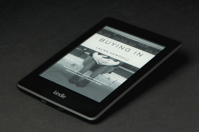 Kindle Paper White book flat angle