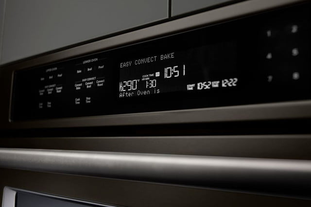 black stainless steel appliances trend kitchenaid double wall oven  3 600 84