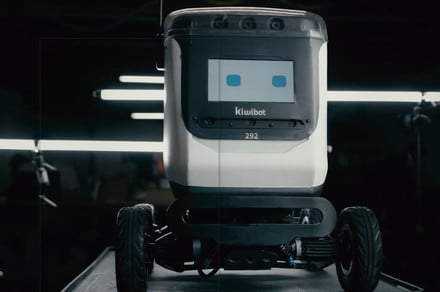 Delivery robot goes up in flames while out and about in California