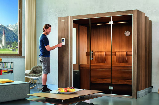 klafs s1 sauna is meant to fit in apartments digital trends. Black Bedroom Furniture Sets. Home Design Ideas