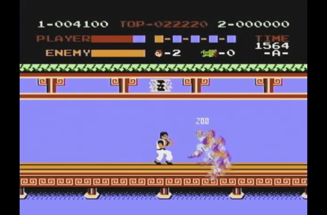 best nes games ever kung fu screen 2