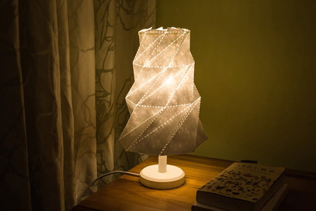 Cleverly designed origami lamp shade debuts on kickstarter digital origami lamp shade launches on kickstarter lampshade4 aloadofball Gallery
