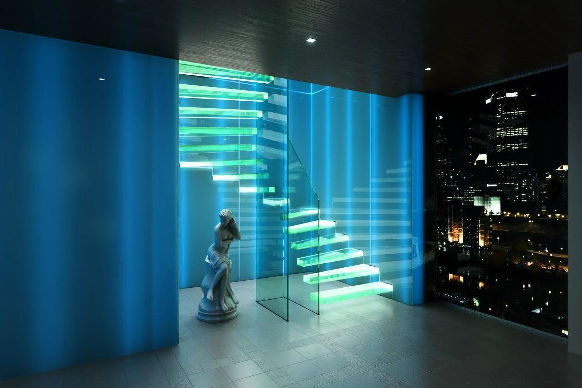 How to decorate your home with led light strips digital trends led light strip stairs 1161x773 aloadofball Images