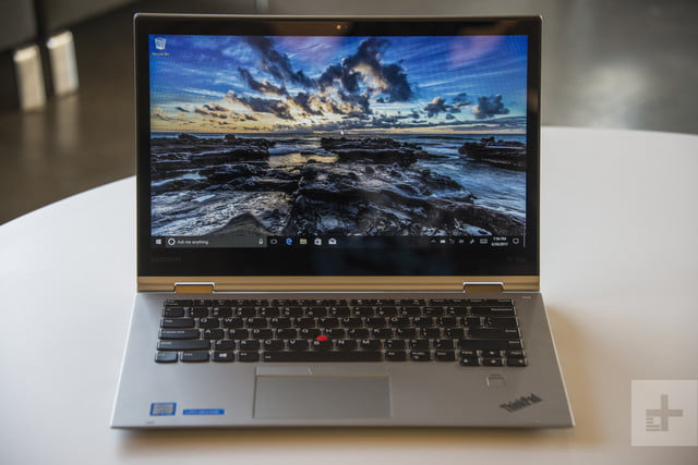 Front of the laptop from straight on — Lenovo ThinkPad X1 Yoga