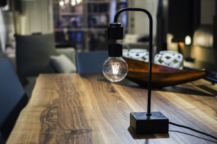 No strings attached: This levitating lamp uses science to defy gravity