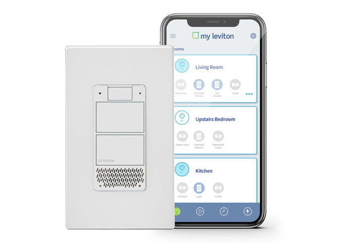 leviton voice dimmer switch wall outlets alexa ces 2019 decora light with phone