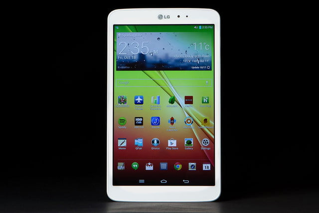 LG G Pad front home screen