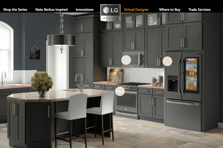 LG's Studio Virtual Designer Tool Puts Appliances At The Forefront Gorgeous Virtual Kitchen Remodeling Painting