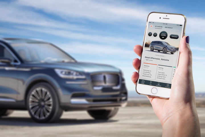 Lincoln Aviator Phone as a Key