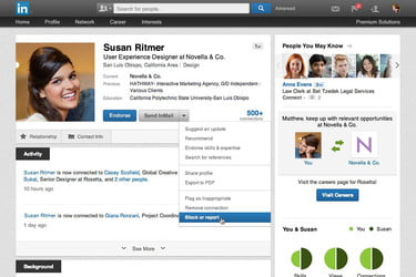 LinkedIn finally starts fighting stalkers with member blocking