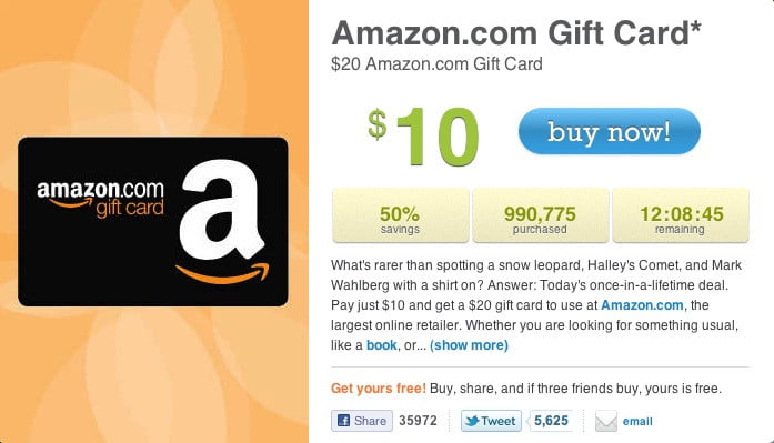 amazon 50 off coupon on livingsocial goes viral digital trends