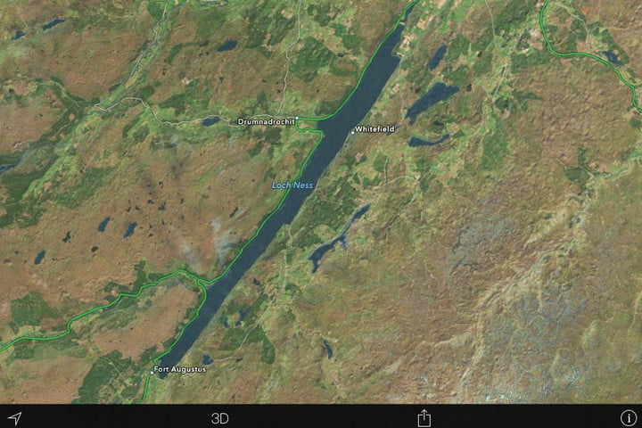 Loch Ness Monster \'spotted\', albeit on Apple Maps | Digital Trends