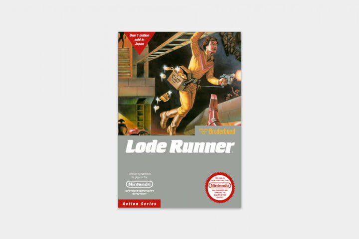 best nes games ever lode runner cover