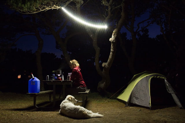 the luminoodle is a portable led light strip camp lighting hero