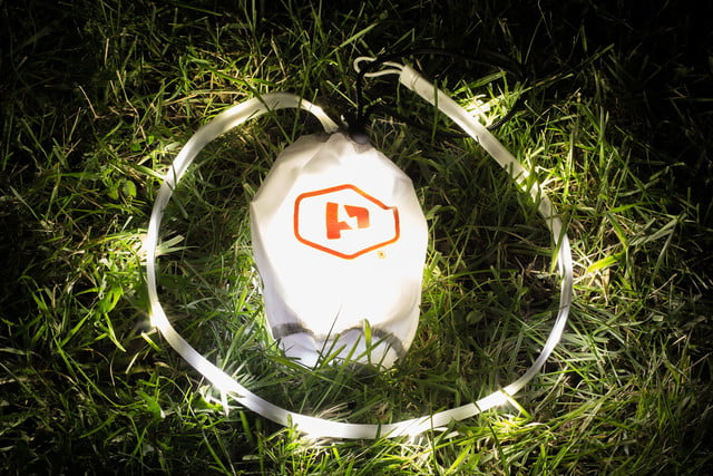 the luminoodle is a portable led light strip grass