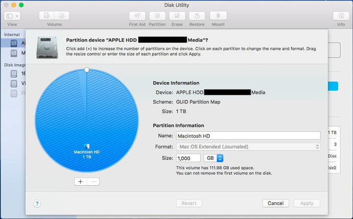 Mac Partitioning Instructions