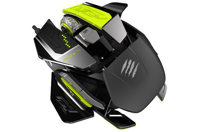 mad catz goes neon green with new customizable gaming mouse madcatazratprox
