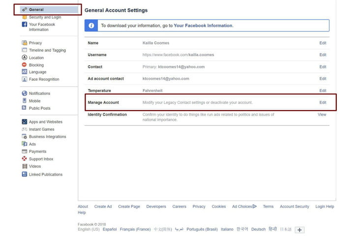 how to delete your facebook account manageaccountfb