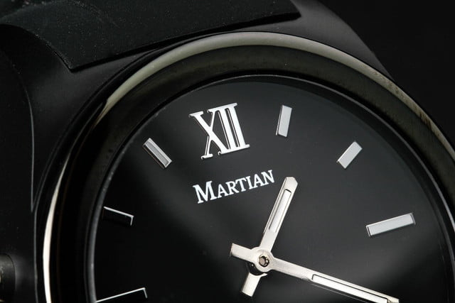 Martian Notifier Watch review face macro 2
