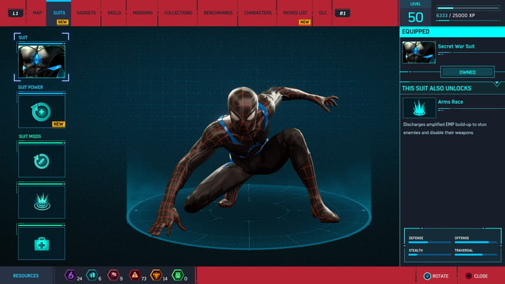marvels spider man ps4 how to unlock every suit marvel s 20181213103422