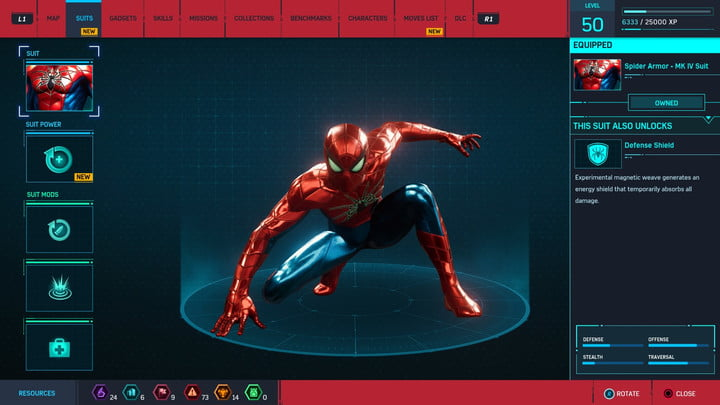 marvels spider man ps4 how to unlock every suit marvel s 20181213103536