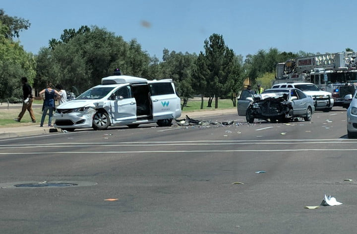 waymo van crash matt jaffee photo