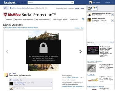 McAfee Social Protection locks your Facebook photos against