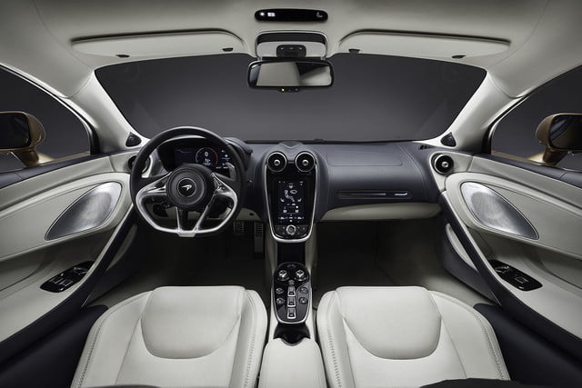 the recently revealed mclaren gt is a road trip ready supercar grand tourer 2019 interior 1