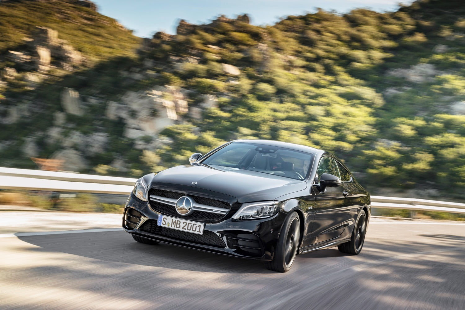 Mercedes' new C-Class coupe packs up to 385 horsepower and a 10-inch touchscreen