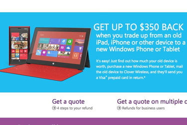Microsoft expands trade-in program, offers up to $350