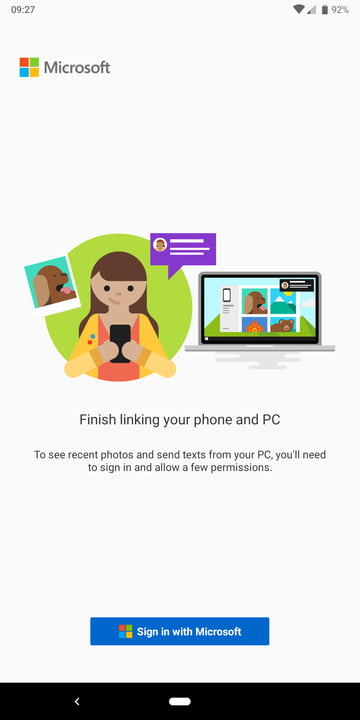 Microsoft Your Phone on Android