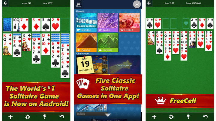 Image result for microsoft solitaire app