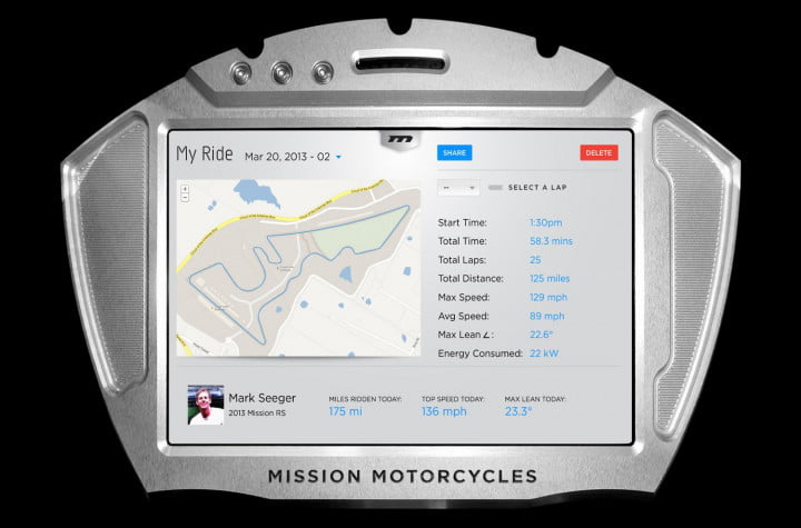missions hot new 160hp electric motorcycles one gear plus reverse 150mph and no shifting mission moto r ride tracker screen