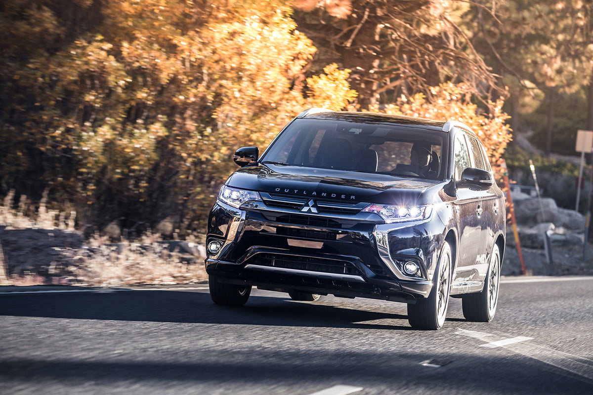 mitsubishi talks electric cars electrification outlander driving
