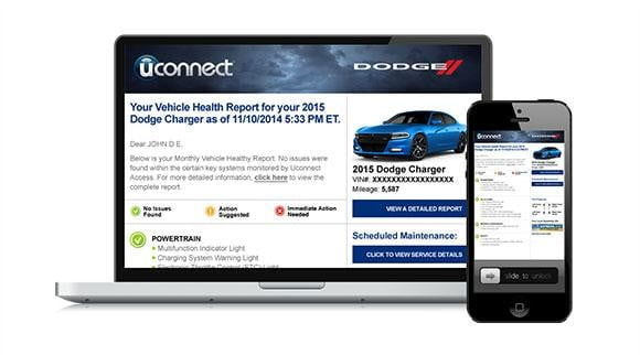 Chrysler Uconnect Access Monthly Vehicle Health Report