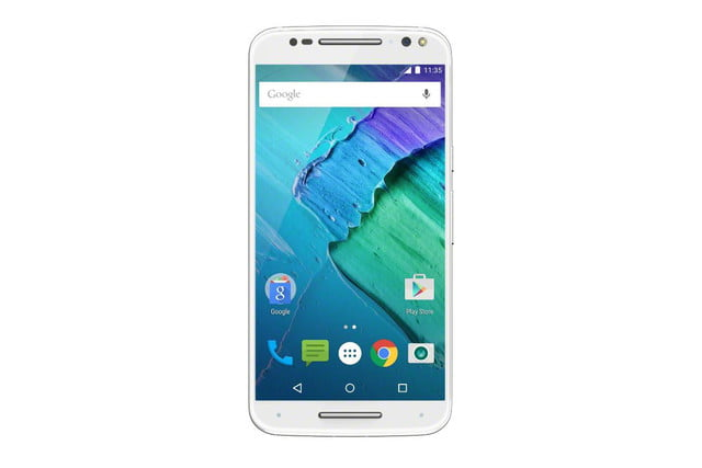 moto x 2015 news style pure edition white front
