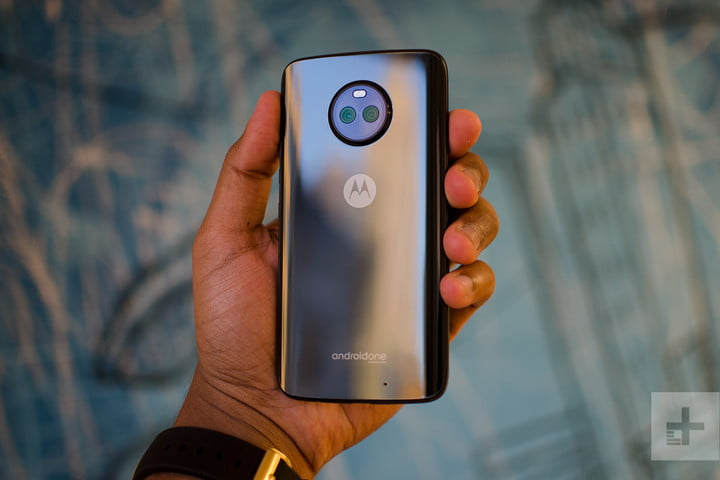 Moto X4 Android One Review Back Angle In Hand