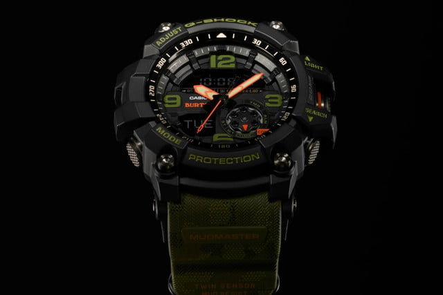 burton casio g shock mudmaster watch mudmaster1