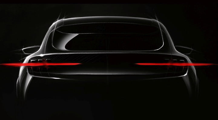 fords mustang based all electric suv teased inspired fully performance utility