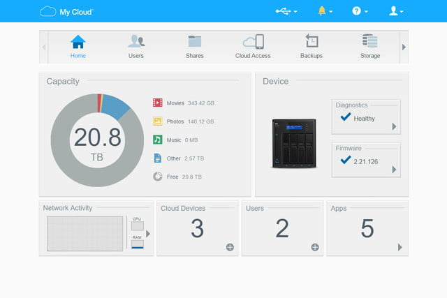 wd pr4100 nas review mycloud control panel