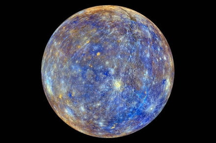 Mercury's wobble as it spins reveals that it has an inner solid core