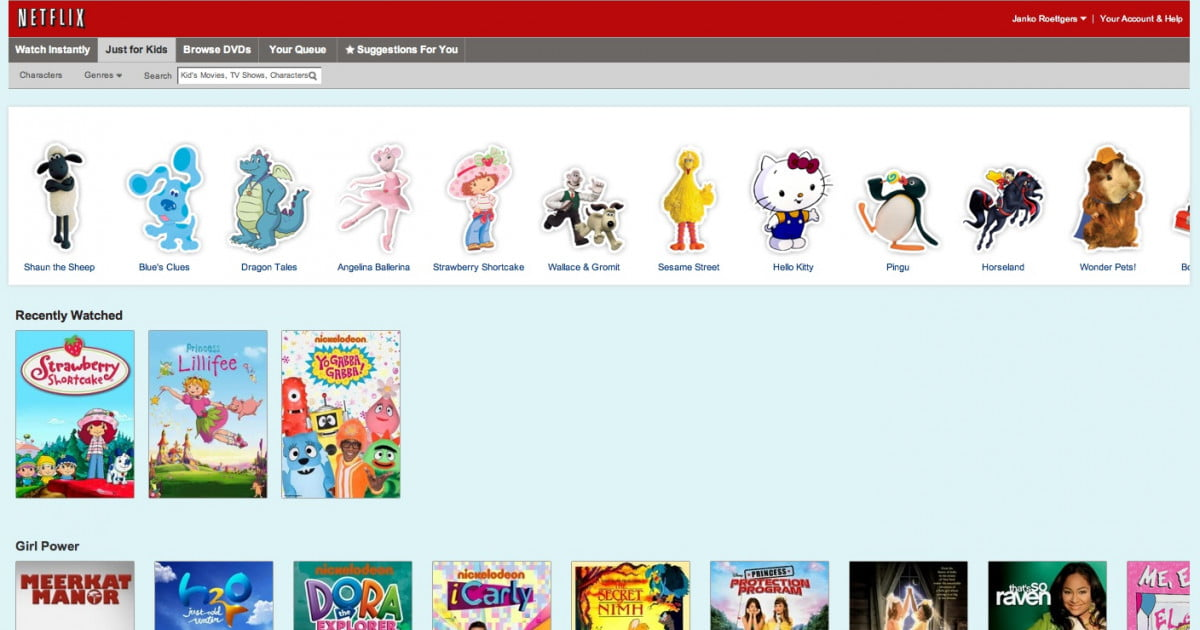 Netflix Testing A New Web Interface That Is Just For Kids