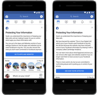 facebook third party app access updated cambridge analytica new sharing messages
