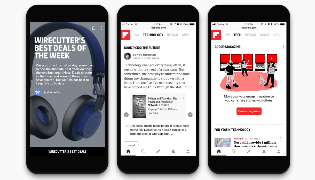 Flipboard Adds More Personalization for Tech Section on App, Desktop ...